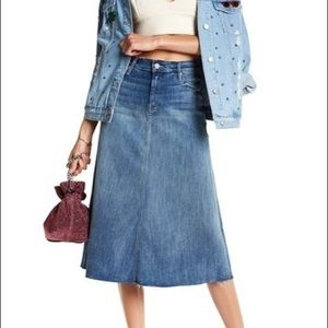 🚨BUYNOW🚨MOTHER Double Fray Denim Skirt